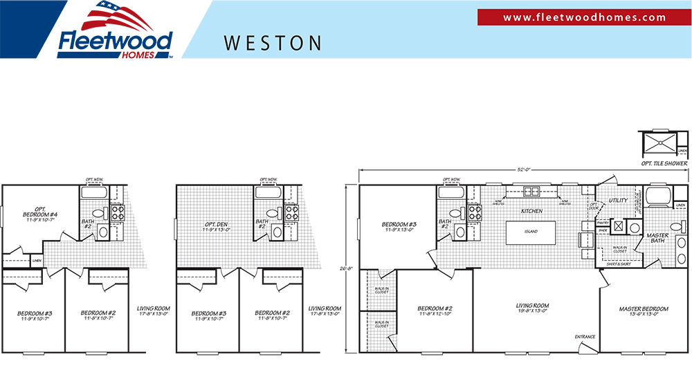 FleetwoodWESTON 28X523 Bedroom